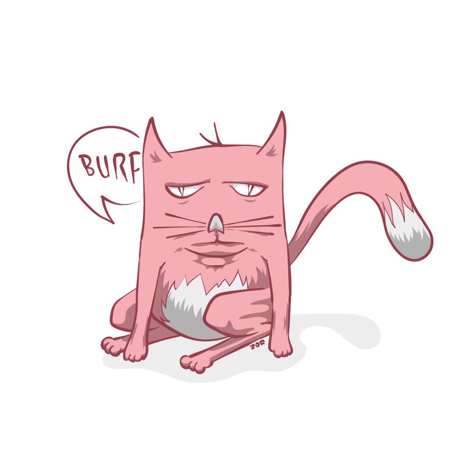Burp cat by zor