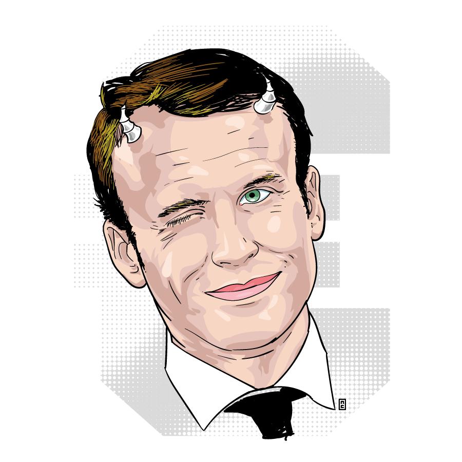 Macorn - Emmanuel Macron by zor